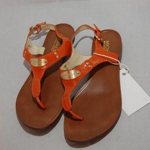 Michael Kors Orange Sandals size 7.5